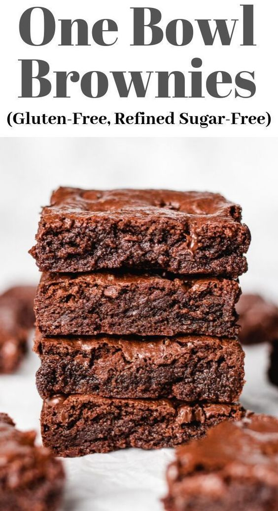 The Best One Bowl Brownies Recipe (Gluten-Free, Refined Sugar-Free) | Veronika's Kitchen