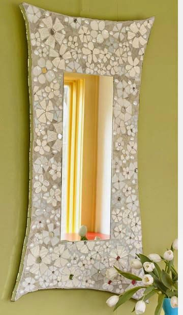 Diy Projects: DIY Mosaic Flower Frame