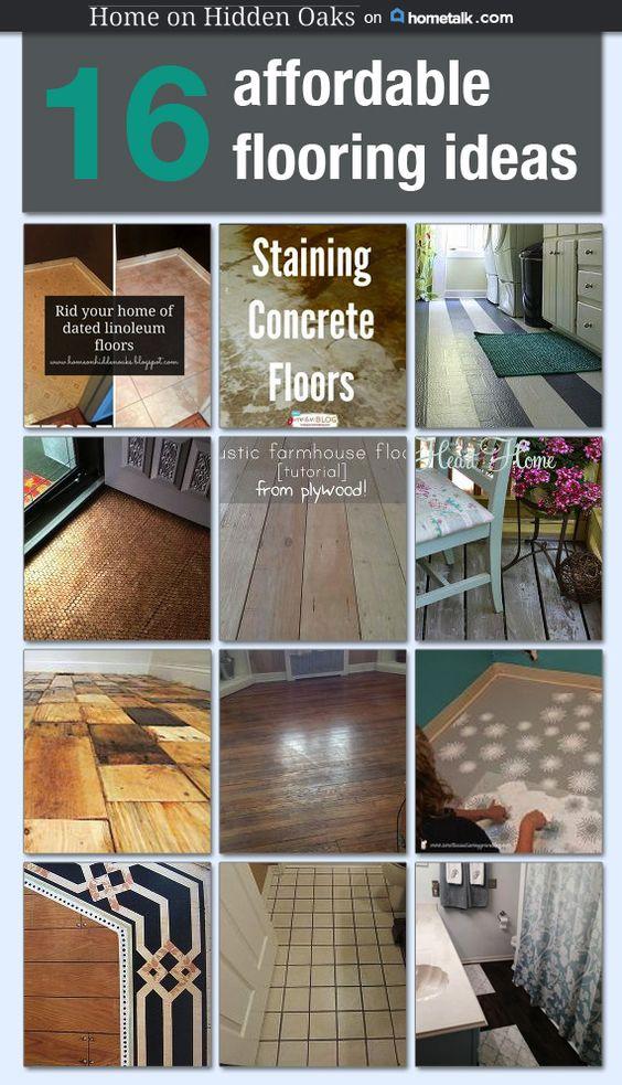 Flooring · 16 Affordable Flooring Ideas