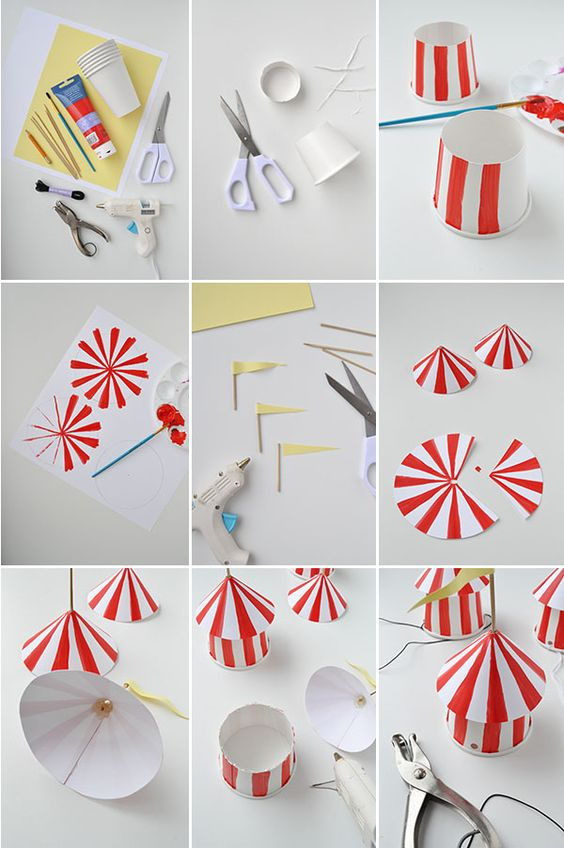DIY Circus Party Hats | Oh Happy Day!.  Love em'!