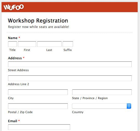 Free Registration Forms Template Top 5 Event Registration Form Templates In 2020 Registration Form Event Registration Registration Form Sample