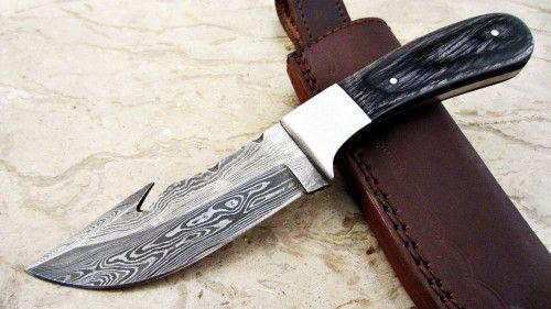 Gut Hook Skinning Knife Custom Hand Made Fixed Blade Jl1624 Knife Skinning Knife Blade