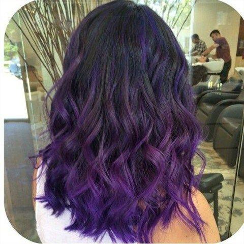 50 Dark Purple Hair Color Ideas Fashion Is My Crush Dark Purple Hair Dark Purple Hair Color Hair Color Purple
