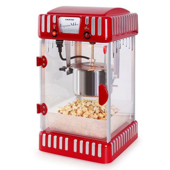 Klarstein Volcano Popcornmaschine 300W Rührwerk Edelstahl-Topf: Zum vergrößern Bild anklicken! @klarstein