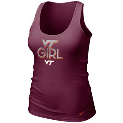 Nike Virginia Tech Hokies Ladies Maroon Shimmer Tank Top #FanaticsSummerWishList