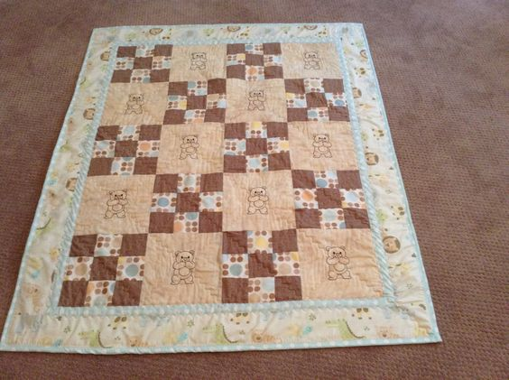 Teddy Bear Quilt by mommomsquilts on Etsy