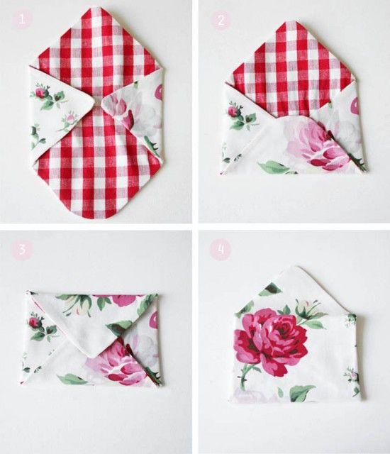 Fabric envelope tutorial #fabric #envelopes fab!