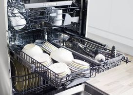 Check out the middle rack on the ASKO D5554XXL dishwasher. Great for all those bowls and mini plates!