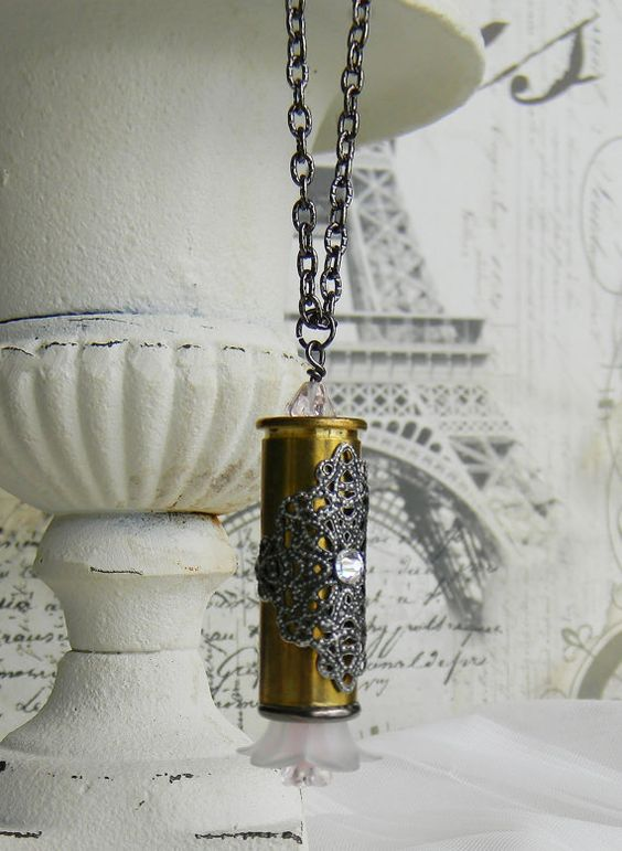 Bullet Necklace Bullet Jewelry Ammo Necklace от SecretGardenNotes