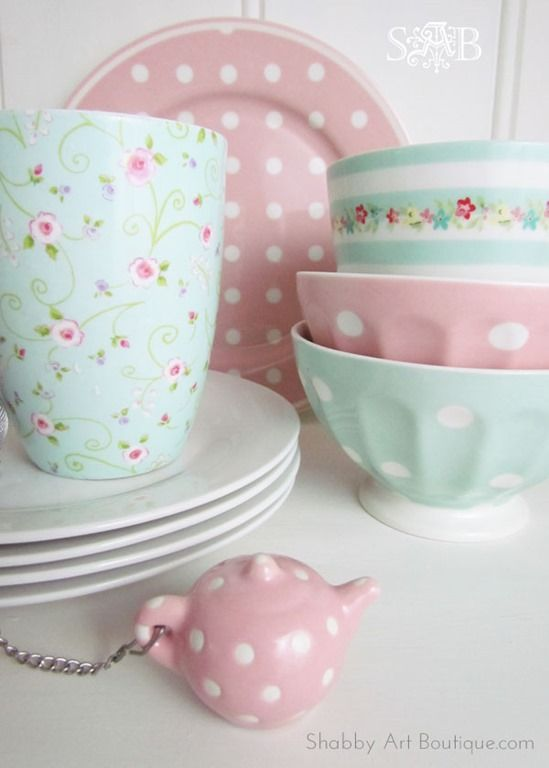 diy genious shabby chic cath kidson dish makeovers pastel pinterest wohnen geschirr. Black Bedroom Furniture Sets. Home Design Ideas