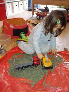 Stressed out by  sensory play