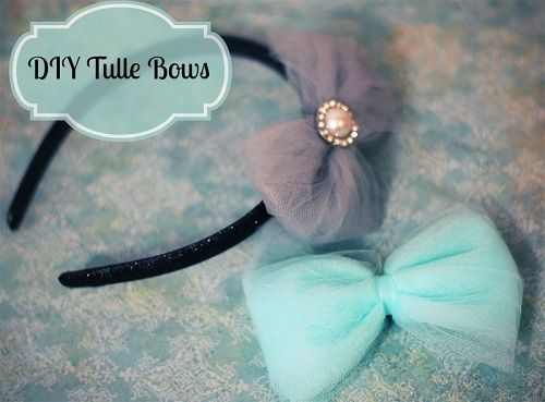 DIY Tulle Bows - Simple, cheap, and gorgeous! I'm so gonna rock headbands while my hair starts growing back