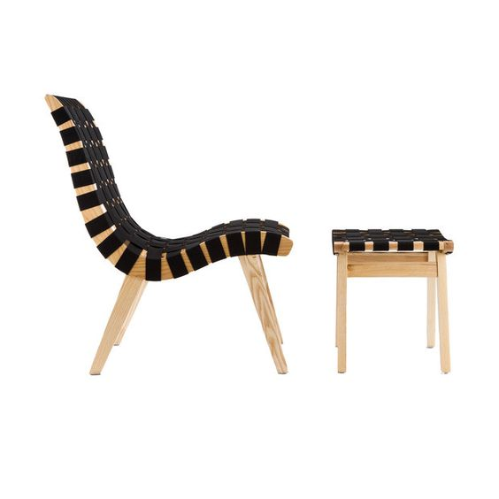 Criss cross lounge chair and ottoman td pinterest for Replica designer sessel