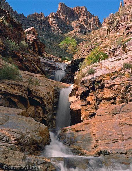 Seven Falls in Tucson, Arizona