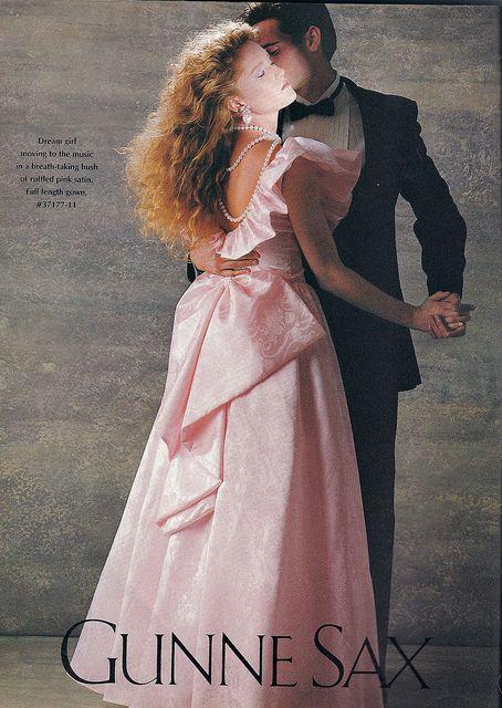 "1980s Gunne Sax dress by Jessica McClintock...the ""IT"" brand for high school dances."