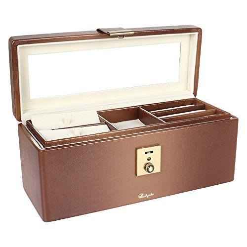 RICHPIKS Jewelry Accessories Organizer Box Mirror Clasp Lock