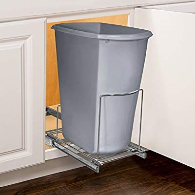 Amazon Com Lynk 430101ds Professional Bin Holder Pull Out Under Cabinet Sliding Organizer 10 1 Wide X 2 Kitchen Storage Hacks Under Sink Cabinet Organization