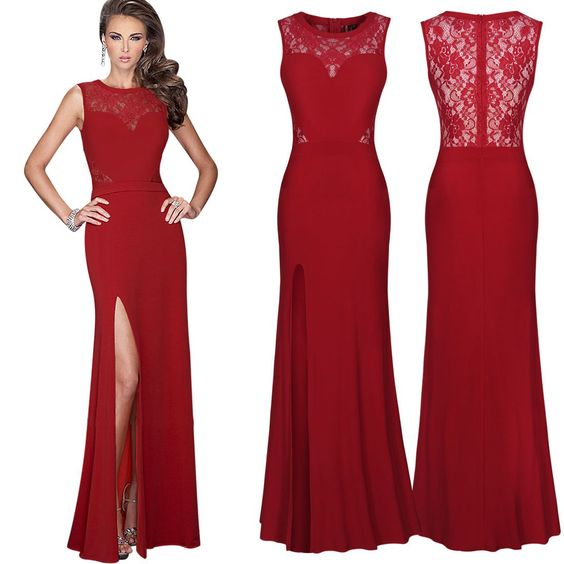 MISSMAY Women&39s Long Evening Wedding Bodycon Cocktail Party Dress ...