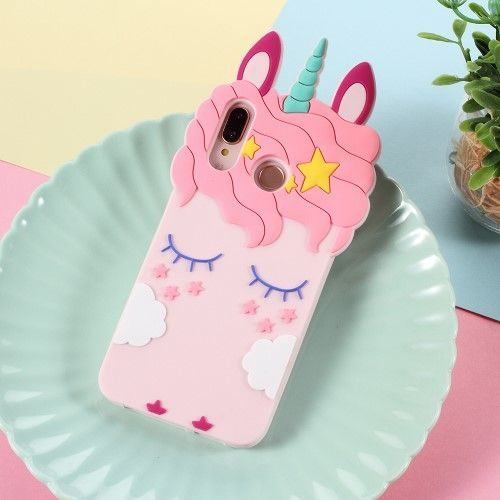 Coque Huawei P20 Lite Licorne 3D en silicone   Unicorn iphone case ...