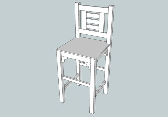 Half-high stool (based on Vintage Bar Stool project) | Do It Yourself Home Projects from Ana White