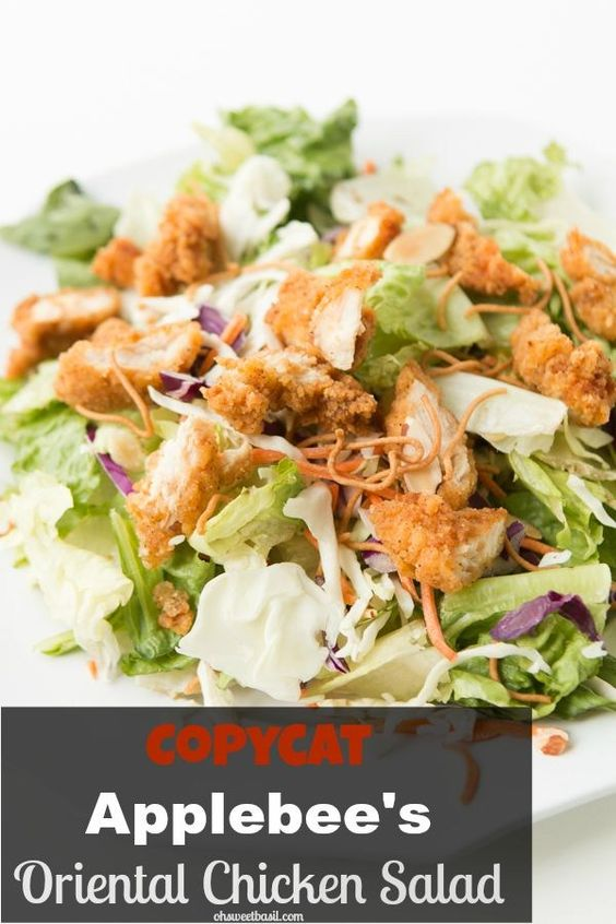 Applebee's oriental chicken salad copycat recipe ohsweetbasil.com