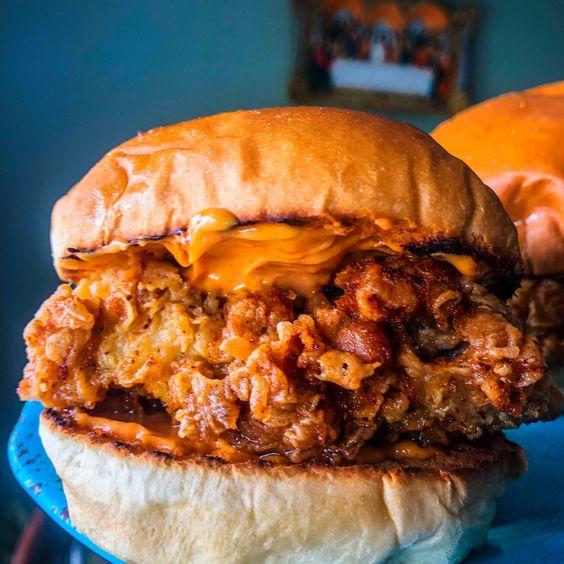 Homemade Popeyes Chicken Sandwich Joshua Weissman Recipe Style Popeyes Chicken Chicken Sandwich Pretty Food