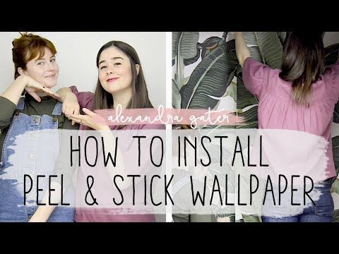 Diy Renter Friendly Accent Wall Peel And Stick Wallpaper How To Youtube Renter Friendly Peel And Stick Wallpaper Renter