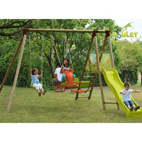 Portique en bois Hellebore SOULET - 771020 - Jardin piscine