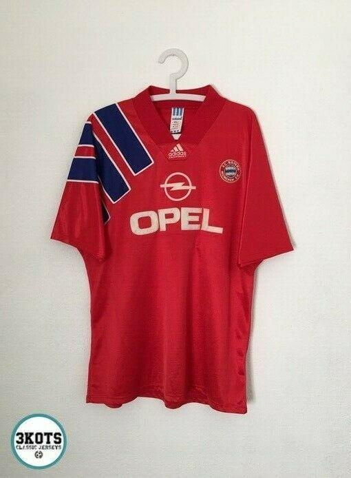 Bayern Munich 1991 93 Adidas Home Football Shirt Xl Mens Vintage Soccer Jersey Adidas Bayernmunich In 2020 Vintage Football Shirts Football Shirts Soccer Shirts