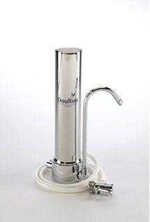 Auftisch-Wasserfilter Doulton HCS aus Edelstahl mit Supercarb SI Filterpatrone (mit zusätzlichem Enthärtungsfaktor)