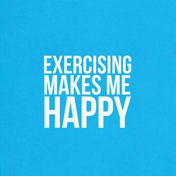 exercising makes me happy