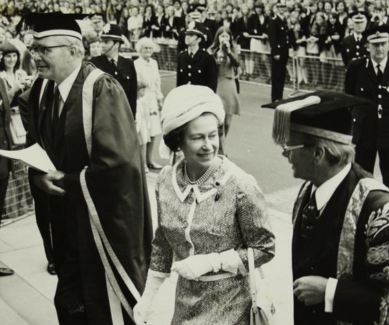 Photograph from Queen Elizabeth visit to Birmingham University,1975   #Birmingham #university #chefkevinashton #staffhouse