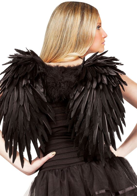 Black Angelic Feather Wings, Black Wings - Angel Wings ...