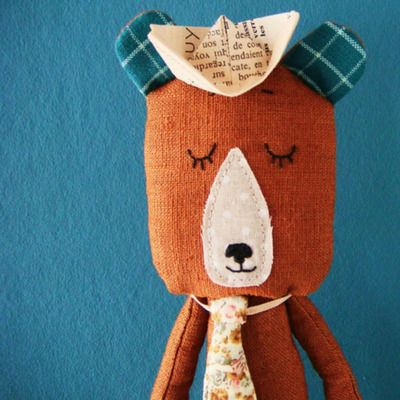 L'Ours caramel ROSE MINUSCULE l little-home.fr