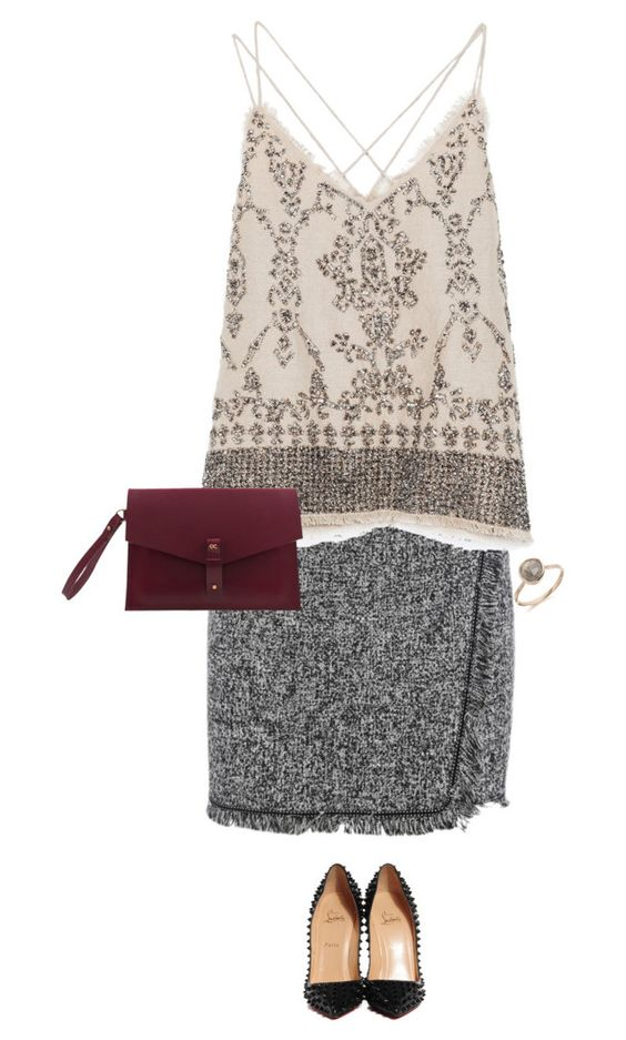 """""""Sin título #1837"""" by karenvillagra on Polyvore featuring moda, Zara, Christian Louboutin y Olive Cooper"""