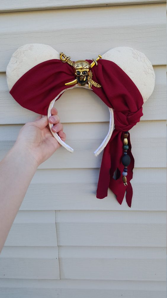 These ears are great for a pirate fan! They are made to order so there is room on customizing them a bit. Make sure to specify exactly what youd