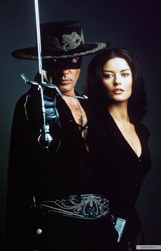 The Mask of Zorro. I love this film I used to watch it a lot! Beautiful scenery, costumes, great action romance!