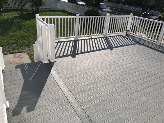 Trex Pebble Grey Azek Decking House Colors Deck Renovation