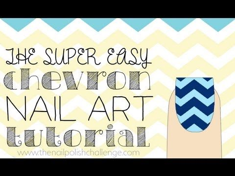 How to do this SUPER EASY chevron nail art manicure!