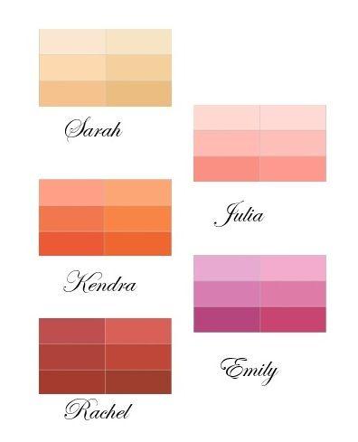 Mismatched Bridesmaid Colour Palette
