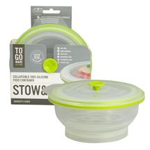 Stow&Go 4 Cup Silicone Container - Green