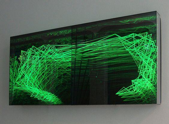 fractal structure 2012 60cm x 60cm mirror plexiglas color changing leds - Plexiglas Color