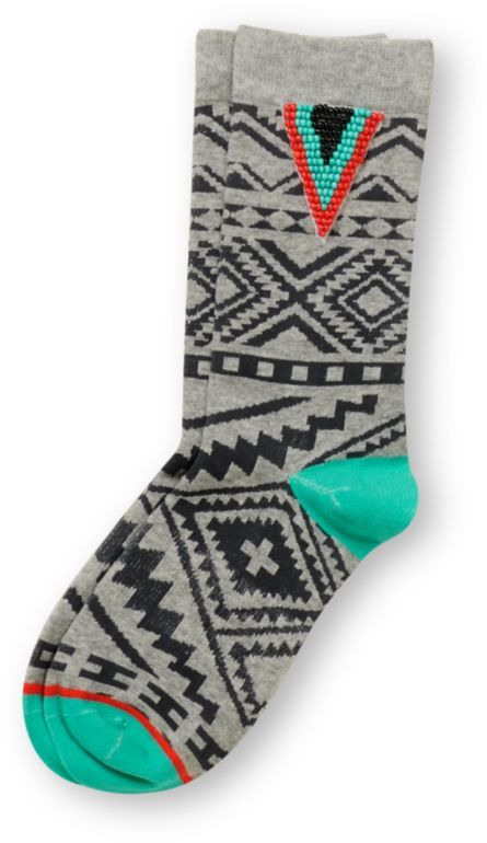 Stance Girls Kingston Grey & Turquoise Socks