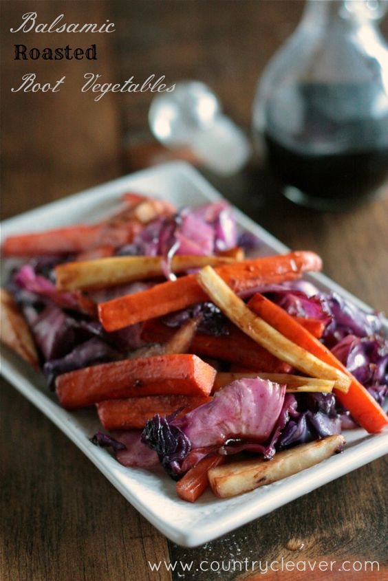 Roasted Balsamic Root Vegetables - www.countrycleaver.com