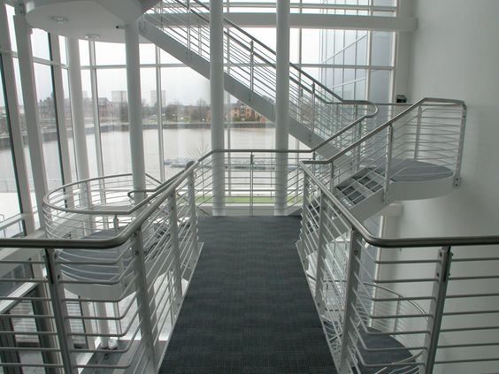 Best This Staircase Features Mild Steel Structural Stringers 640 x 480