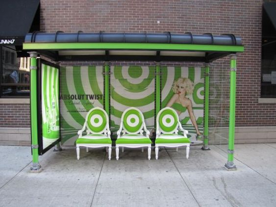 Absolut: Twist bus stop