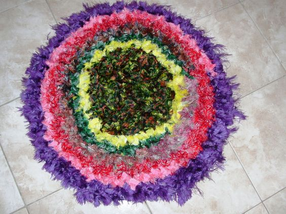 Alfombra en totora de tela rigida reciclada totora - Telas para alfombras ...