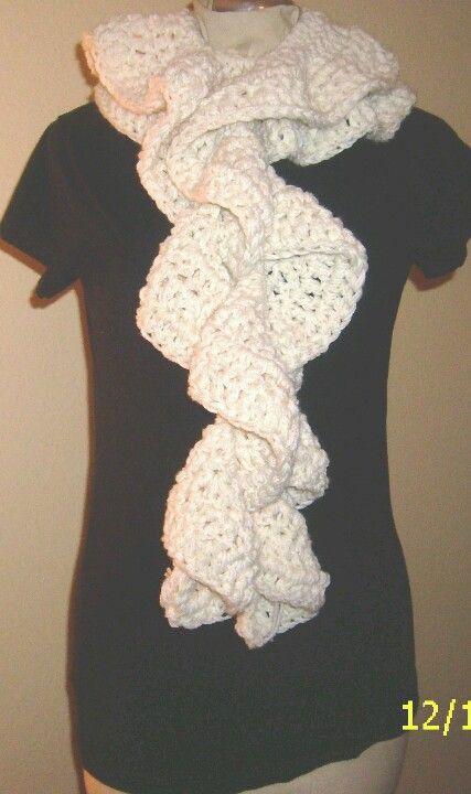 Crochet-knit scarf. I love it!