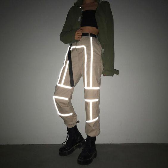 Reflective Pattern Pants