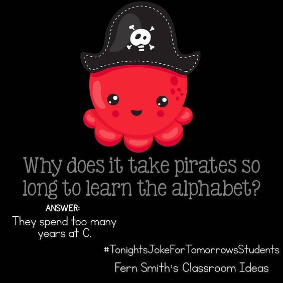 Why does it take pirates so long to learn the alphabet?
